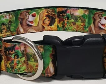 dog collar, jungle book, baloo, disney inspired, bare necessities