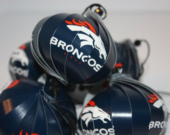 Denver Broncos NFL Ornaments : Single or Set of 5