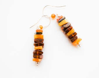 Natural baltic amber earrings 5,6g