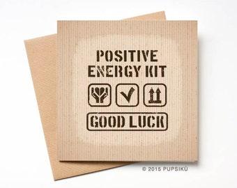 Positive Energy Card Etsy