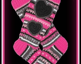 PATTERN ONLY- Crochet Knee High Sock Boots, adult size