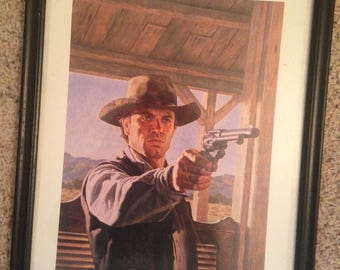 Vintage framed Louis Lamour West of the Tularosa
