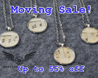Noted, Steampunk Necklace, Music Symbol