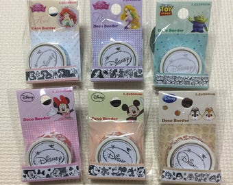 Disney Characters Glitter Masking Tapes