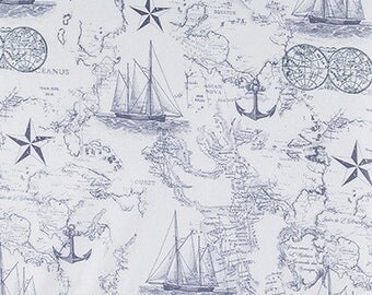 Nautical Baby bedding, changing pad cover, ocean  bedding, ships, compass, baby boy, nautical changing pad cover, blue and white bedding