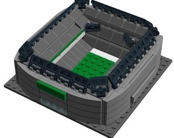 Mini New York Jets MetLife Stadium Custom Brick Set with Printed Instructions