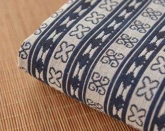 Ethnic Navy Stripe Cotton Fabric Tribal Geometric fabric Double side jacquard fabric