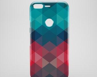 Triangle geometric google pixel phone case, google pixel XL case, cool google pixel cases, cell case, hipster