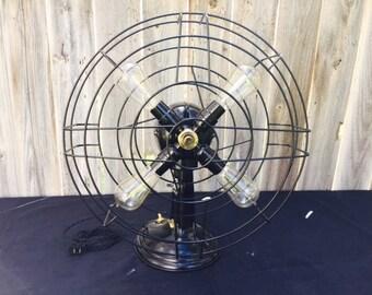 Vinatge Fan Lamp Steampunk Desk Lamp