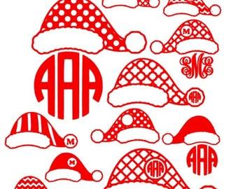 Monogrammed Santa Hats