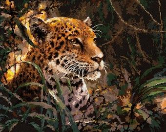 Cross Stitch Kit Jaguar