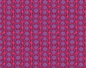 True Colors by Anna Maria Horner for FreeSpirit / Crescent Bloom in Ruby / 1 Yard