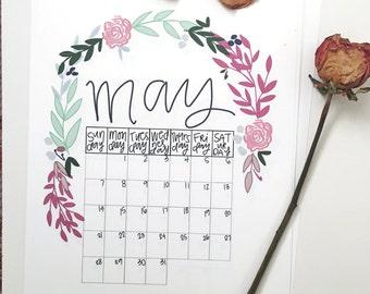 2018 Floral Calendar (8.5x11)