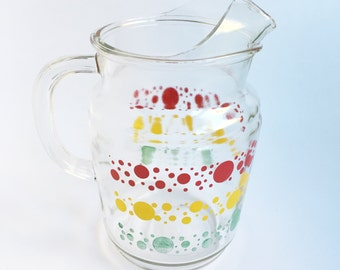 Red, Yellow and Green circle pitcher