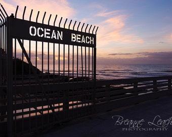 "Photography ""See It In Sunset"", San Diego, OB, Ocean Beach Pier, Beach, Wall Art, Home Decor, Southern California Beach, Fine Art Prints"