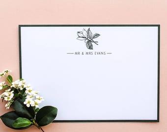 Green Magnolia Personalised Wedding Stationery Set
