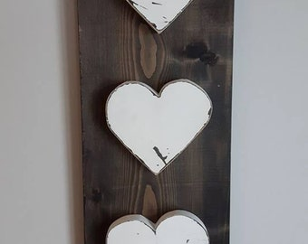 Wood Heart Sign | Rustic heart Decor | Heart Decor | Nursery Heart Decor | Primitive Wood Decor | Fun Wall Decor | Heart Decor