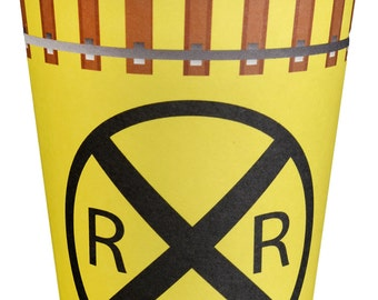 RailRoad Train Party 12 Ounce Hot/Cold Paper Cups 8 Pack