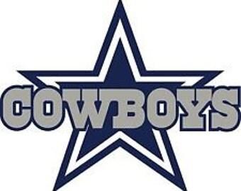 Dallas Cowboys Script Decal