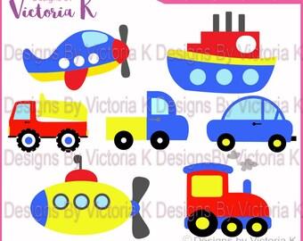 7 FREE Plus Transport, Car, Boat, Plane, Submarine, Van, Train Truck, SVG, DXF, Files, Cricut Design Space, Vinyl cut Files