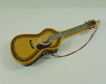 A Vintage Guitar Shaped Clothes Brush, Retro Home Decor, Mid-Century Wall Hanging, Vintage Kitsch Guitar Brush,