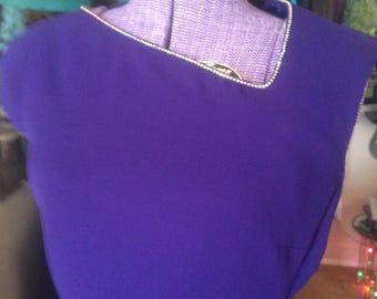 Vintage Purple Evan Picone Dress is a Classic