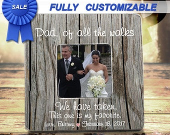 Father Of Bride Gift Father Of The Bride Frame Parents Thank You Gift Of All The Walks We Have Taken Wedding Gift For Dad Wedding gift ideas