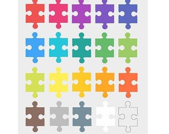 Puzzle Piece Clipart, Puzzle clip art, Game Kids, Jigsaw, Instant Download, Personal and Commercial Use