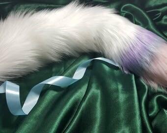 Kawaii kitten tail Ice cream pastel coloured