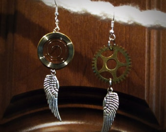simple steampunk/clockpunk gear earrings