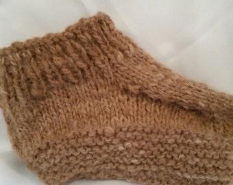 Men's hand knit Alpaca slipper
