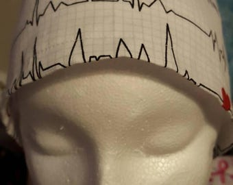 Heart Beat Reading Surgical Cap