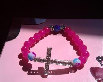 CanCan Pink Cross bracelet for Women