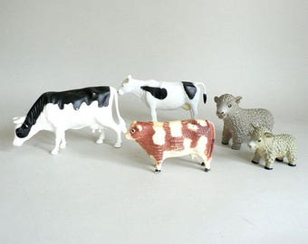 Childs Barnyard Animal Cows Sheep Lamb