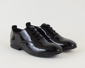 Patent Black Oxford Shoes