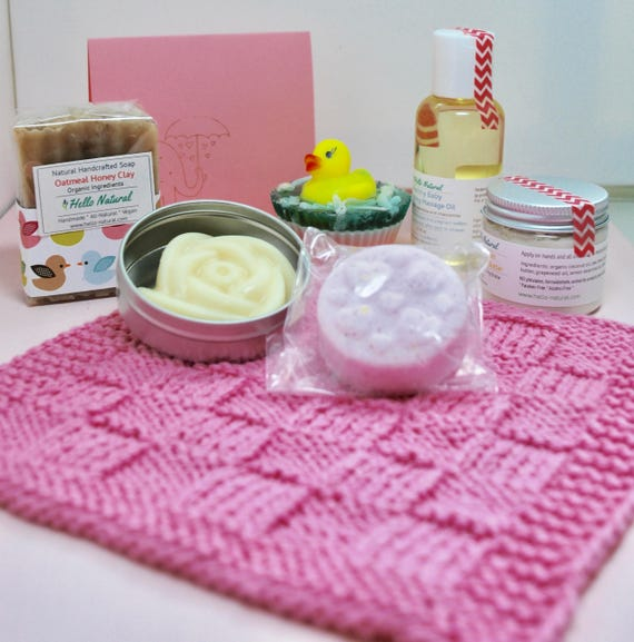 Baby Mommy Gift Set New Baby New Mom Bath Set Natural Baby