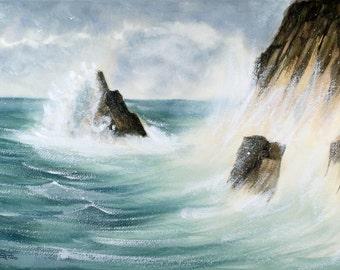 Stormy Seas - An Original Watercolour Painting