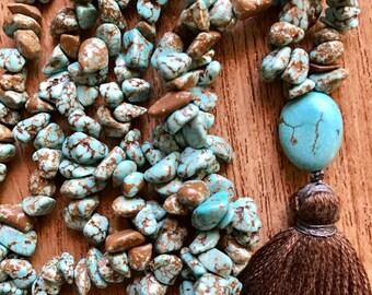 Magnesite Tassel Necklace