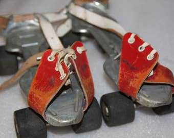 Roller skates vintage roller skates other pair vintage toy roller blades leather fronts adjustable size roller blades