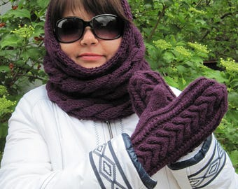 Gifts-for-her Personalized gift Knit scarf chunky christmas wife gift Hand knitted Hair accessories Best moms gifts  snood Womens scarves