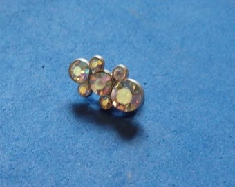 Colorful Rhinestone small Sparkly brooch,vintage