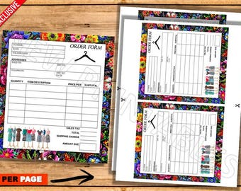 Lularoe Order form, Marketing, Home Office Approved, Lularoe Notepad, Instant download