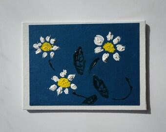 Daisy artwork, acrylic daisy painting, daisy gift, shasta daisy, gerber daisy, original acrylic daisy, small daisy painting, daisies artwork
