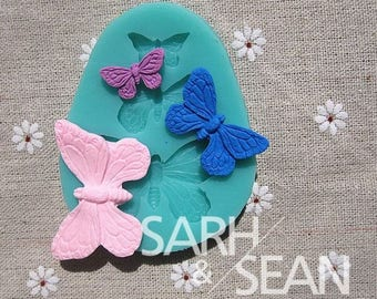 Triple Butterfly Silicone Fondant Mould Mat