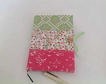 Handmade, fabric, book, journal notebook cover