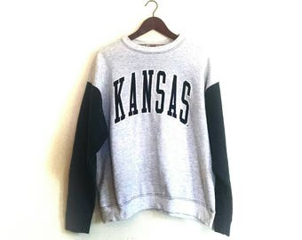 Vintage Kansas University KU Jayhawks crew sweatshirt