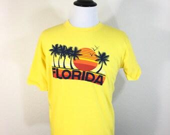 80's florida 100% cotton t-shirt size large