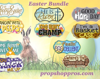 Easter Photo Booth Props | Photo Booth Props | Prop Signs | Easter Signs