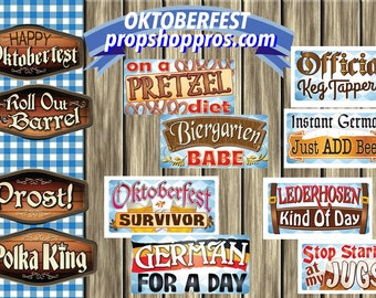 Oktoberfest Props | Oktoberfest Signs | Photo Booth Props | Prop Signs