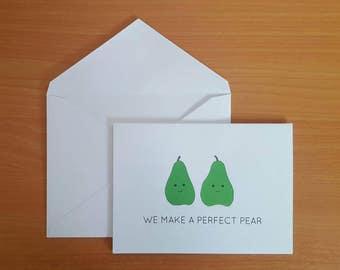 A perfect pear - Anniversary Card - Greeting Card